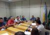 Secretário de Saúde Renato Vidigal reunido com 16 dos 19 vereadores de Dourados, na manhã de quinta-feira – Foto: Divulgação
