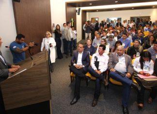Governador participou da 7ª edição do Seminário de Vereadores de MS na manhã desta quinta-feira, 17, na sede da Assomasul - Foto: Edemir Rodrigues