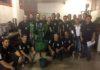 Alunos do curso técnico em mineração do Senai de Corumbá com o espessador - Divulgação