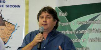 Caravina discursa durante o seminário regional do Siconv, na cidade de Nova Andradina - Divulgação