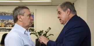 Deputado estadual Paulo Corrêa recebeu o deputado federal Carlos Marun para formalizar cooperação com a CPMI - Foto: Victor Chileno
