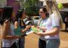 Equipe do Cihdott distribuiu panfletos com informações sobre a doação de órgãos – Foto: A. Frota
