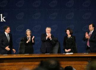 Posse da nova procuradora-geral da República, Raquel Dodge, nesta segunda-feira, 18 - Foto: Marcelo Camargo/Agência Brasil