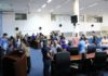 Os servidores tiveram aula prática durante a palestra de capacitação - Foto: Thiago Morais
