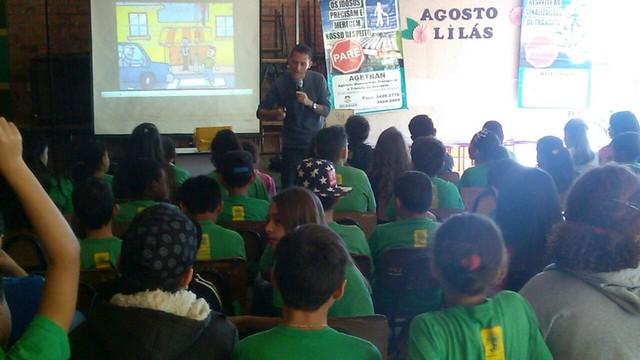 Agetran busca conscientização no trânsito com palestras nas escolas - Foto: Assecom/Divulgação