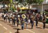 Com 20 músicos voluntários, primeira reapresentação da Banda Lira foi no desfile cívico de 2017 – Foto A. Frota