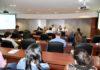 Nelson Mamede, CEO da empresa Ligo, durante palestra nesta segunda-feira, no Edifício Casa da Indústria - Assessoria