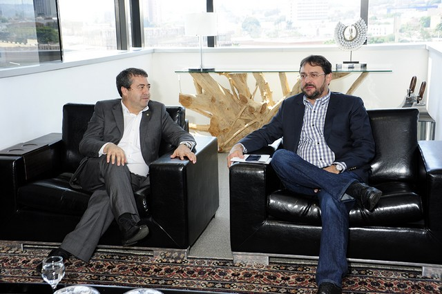 Presidente da Fiems, Sérgio Longen recebeu neste sábado o ministro do Trabalho, Ronaldo Nogueira – Divulgação Fiems
