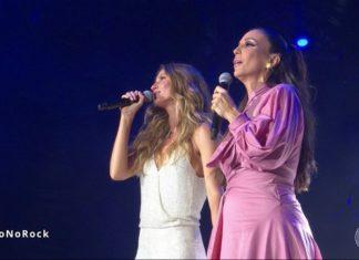 Ivete canta 'Imagine', de John Lennon, ao lado de Gisele – Reprodução TV Globo