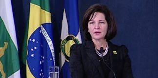 Em posse, Raquel Dodge diz que PGR existe para garantir que ninguém esteja 'acima da lei' – Reprodução NBR