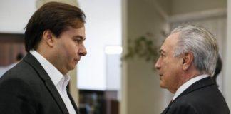 Segundo Maia, Temer precisa reorganizar a base e ouvir as lideranças partidárias – Foto: Beto Barata/PR