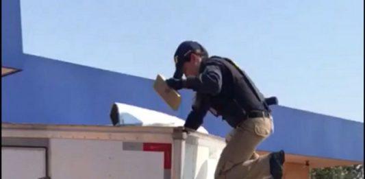 Foram apreendidos aproximadamente 578 quilos de maconha – Divulgação PRF