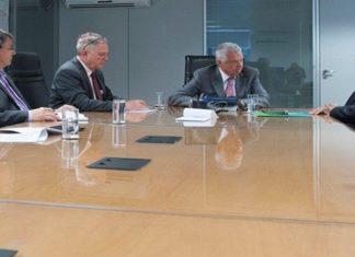 Governador Reinaldo Azambuja esteve nesta quinta-feira com Jorge Luiz Macedo Bastos, diretor-geral da ANTT – Divulgação ANTT