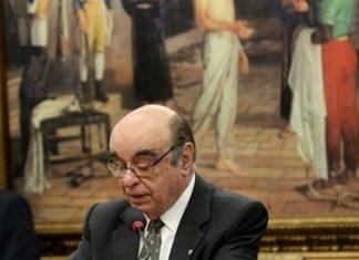 Relator lê parecer sobre denúncia contra Temer na CCJ da Câmara - Foto: Agência Brasil