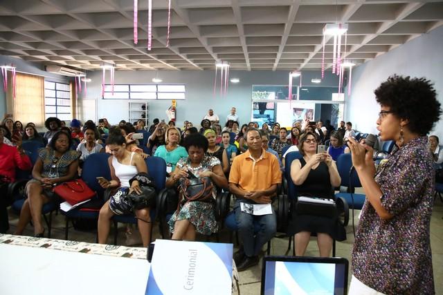 Conferência de Igualdade Racial aconteceu no auditório do Cras Água Boa nesta terça-feira - Foto: A. Frota