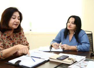 Prefeita Délia Razuk e secretária de Educação Denize Portollann já preparam ações para atender recomendação do TCE – Foto: Assecom