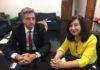 Prefeita Délia Razuk em um dos encontros com o deputado Dagoberto Nogueira, em Brasília - Foto: Assessoria/Arquivo