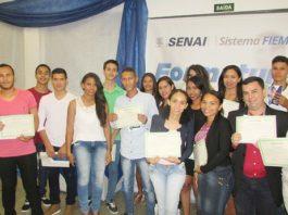 Na cidade de Sonora, 76 alunos concluíram os cursos e receberam certificados - Divulgação