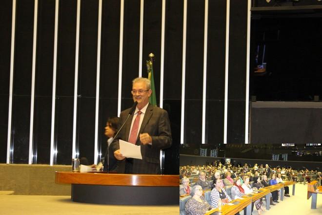 Geraldo foi escolhido pelo PSDB para falar pela liderança do partido no Plenário da Câmara dos Deputados; no detalhe o plenário da Câmara - Assessoria