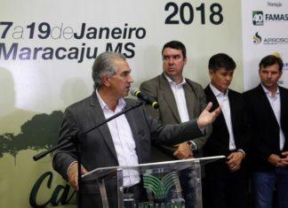 Reinaldo destacou o trabalho do Governo do Estado para fazer com que Mato Grosso do Sul neutralize a emissão dos gases prejudiciais ao meio ambiente – Foto: Chico Ribeiro