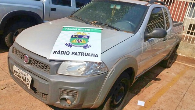 Fiat Strada estava abandonado no Jardim Resselem – Divulgação PM