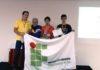 A equipe do IFMS é formada pelo professor Rafael dos Santos e pelos estudantes Lucas Dias e Nycolas Fróes – Assessoria IFMS
