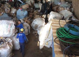 Reciclagem Alvorada produz por dia 30 toneladas de materiais recicláveis, o que totaliza no mês mais de 600 toneladas - Divulgação