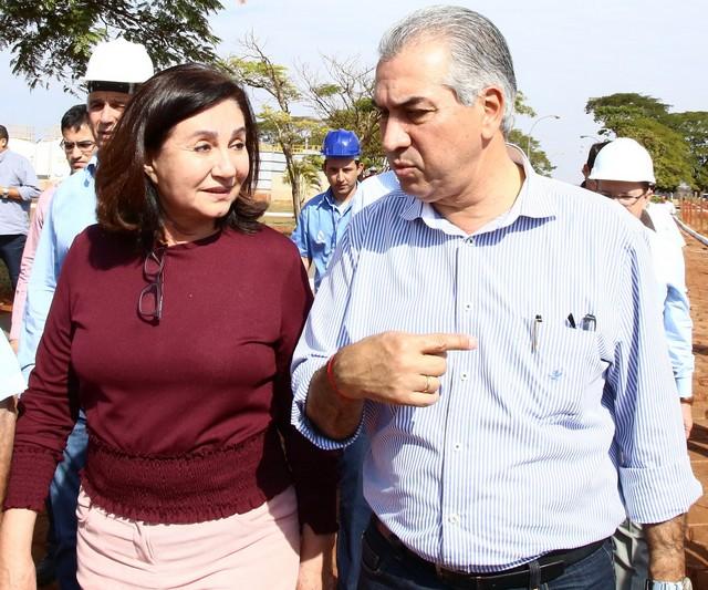 Prefeita Delia Razuk recepciona o governador Reinado Azambuja para agenda de trabalho nesta sexta em Dourados - Arquivo/Assecom