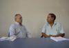 Pedro Lima, presidente da Fetracom/MS, com Orlando Terredor, presidente do Sindicato dos Empregados no Comércio de Corumbá - Assessoria
