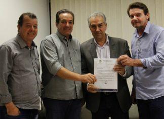 José da Silva, Marisvaldo, Reinaldo Azambuja e Silas Zanata durante encontro - Divulgação