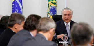 Presidente Michel Temer durante reunião com líderes da base aliada, no Palácio do Planalto - Foto: Alan Santos/PR