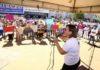 Ato na Praça Antônio João foi para alertar quanto à proposta do governo federal, que prevê cortes nos recursos da Assistência Social – Foto: A. Frota