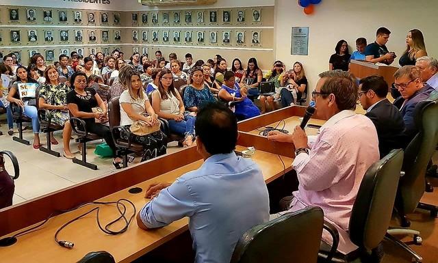 Dirigente estadual do partido, Bosco Martins destacou participação ativa e efetiva da mulher na política - Foto: Maurício Alves