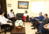Prefeita Délia Razuk recebeu diretores do Hospital Evangélico na manhã desta quinta-feira – Foto: A. Frota