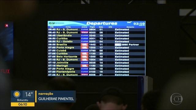 Aeroporto de Congonhas ficou fechado por mais de 2 horas por causa de drone que sobrevoava – Reprodução TV Globo