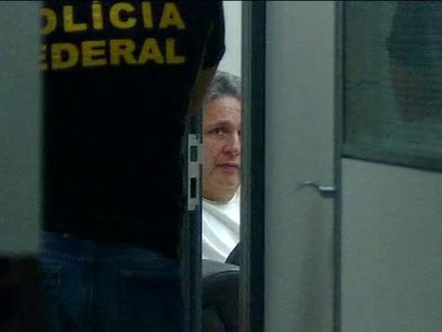 Garotinho na Superintendência da Polícia Federal - Reprodução/William Côrrea/GloboNews