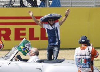 Felipe Massa na parada dos pilotos do Grande Prêmio do México - Foto: EPA