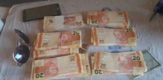 Segundo o casal, notas falsas seriam repassadas no comércio de Uberlândia/MG – Divulgação DOF