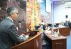 Presidente do Mackenzie durante discurso ao usar a tribuna da Casa de Leis - Foto: Thiago Morais