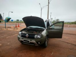 Veículo Renault/Oroch possuía registro de roubo/furto no dia 01/08/2017 – Divulgação PRF