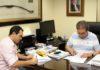Conselheiro Iran Coelho das Neves com o prefeito de Selvíria, José Fernando Barbosa - Assessoria