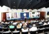 """Evento de encerramento do projeto """"Diálogos de Inovação"""", realizado nesta terça-feira no auditório do Edifício Casa da Indústria - Divulgação"""