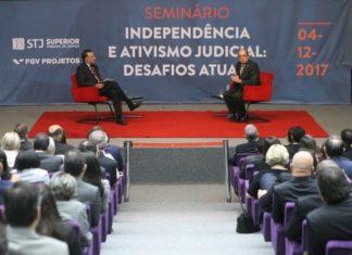 O ministro Gilmar Mendes, do STF, participou na manhã desta segunda (4) de seminário sobre 'Independência e Ativismo Judicial' - Foto: Nelson Júnior/STF