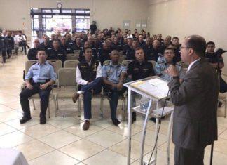 Secretário de Justiça e Segurança Pública, José Carlos Barbosa esteve presente no evento – Foto: Divulgação PMMS