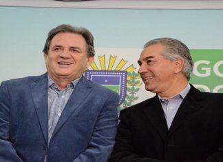 Senador Waldemir Moka com o governador Reinaldo Azambuja - Divulgação