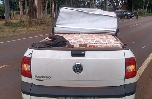 Veículo abandonado carregado com mais de 1.700 pacotes de cigarros é apreendido pelo DOFAgoraMS - O Endereço da Notícia : Mato Grosso do Sul - Agora MS